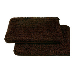 Spa Collection Shaggy Memory Foam Bath Mat (Set of 2)  Chocolate - Enjoy spa luxury at home with the Spa Collection 2 pack Bath Mat, featuring memory foam! Designed to absorb water like a sponge and help protect floors from damaging puddles of water, your feet will love stepping on to this soft cushion of memory foam encased in super-absorbent microfiber. The Microfiber Bath Mat starts with fibers that are split down to microscopic level, resulting in tiny threads that love to absorb every drop of water. Because of this increased surface area, this microfiber mat can collect more water than an ordinary bath mat. Plus, it dries unbelievably fast. The soft memory foam interior provides a comfortable and warm place to stand, or when kneeling to bathe a child or pet, preventing aches and pains. The seams across the mat allow for it to be easily folded for storage, or simply hang it from the convenient drying loop.