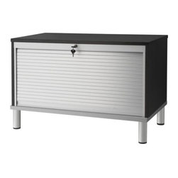 IKEA of Sweden - EFFEKTIV Storage combination on legs - Storage combination on legs, black-brown, aluminum