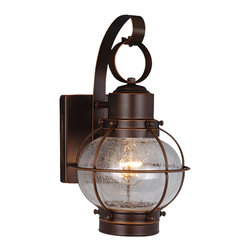 Vaxcel - Chatham Wall Sconce - Vaxcel OW21861BBZ Chatham Burnished Bronze Outdoor Wall Sconce