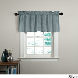 Veratex - Grand Luxe Velvet Luxury Tailored Window Valance - The Velvet Soft Luxury window valance is constructed from 100-percent cotton velveteen. This rich and luxurious valance offers a soft and sophisticated designer's touch to any room in your home for a fresh,updated look.