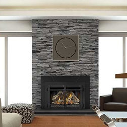 Napoleon Large Deluxe IR4 Series 35'' x 25'' DV Gas Insert Fireplace - The impressive XIR4 deluxe Direct Vent Gas Fireplace Insert entertains a new level of fire and comfort. The XIR4 offers Napoleon's modulating dual burner system that results in a firebox filled with a stunning triple flame pattern, and allows the option of independently operating the front burner for when max BTU's are not necessary. With up to 40,000 BTU's, an impressive 563 sq. in. clean face viewing area and a multitude of designer accessories, it's a perfect choice for larger rooms where a passion for luxury is evident