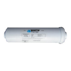 Watts Premier - Heavy-duty In-line Ice and Refrigerator Filter - Get clean,clear,and crisp-tasting water with this n-line ice and refrigerator filler. This filter removes chlorine and sediment for a fresh taste and is perfect for coffee makers or small water lines. A compact design makes it easy to install.