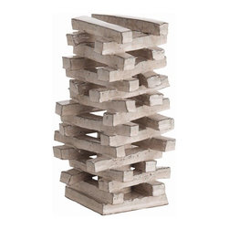 Arteriors Woodrow Tall Stacked Terra Cotta Vase - Woodrow Tall Stacked Terra Cotta Vase