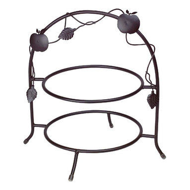 "Renovators Supply - Plate Holders Black Wrought Iron Plate Holder - Crafted of forged wrought iron, this piece measures 13"" wide, 15"" high, and will hold two 10"" plates."