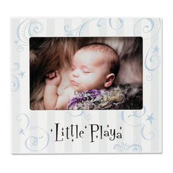 "Lawrence Frames - Nursery Collection - Little Playa 6x4 - Adorable ""Little Playa"" picture frame. Fun picture frame is the perfect compliment to any nursery or makes the perfect gift. High quality black wood backing with easel for table top display. Individually boxed."