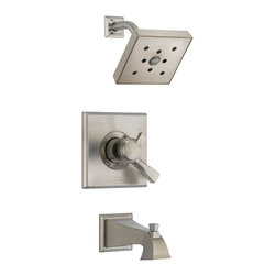 Delta Monitor(R) 17 Series Tub and Shower Trim - T17451-SSH2O - The clean lines and dramatic geometric forms of the Dryden Bath Collection are based on style cues from the Art Deco period.