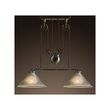 Industrial Pulley Double Pendant | Pendants | Restoration Hardware