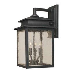 World Imports - World Imports Sutton 4-Light Outdoor Wall Lantern, Rust (9107-42) - World Imports 9107-42 Sutton 4 Light Outdoor Wall Lantern, Rust
