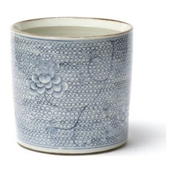 Two's Company - Blue & White Chain Planter - Our Blue and White Porcelain Chain Planter from Two's Company is hand-painted and brings simply stated elegance to any room.