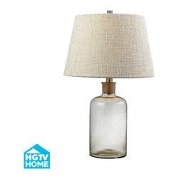 Dimond Lighting - Stylo 1-Light Table Lamp in Clear - Dimond Lighting HGTV137 Stylo 1-Light Table Lamp in Clear