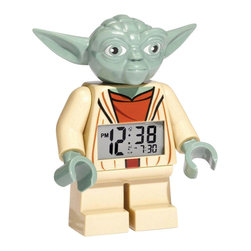 Inova Team -Contemporary Alarm Clock - Yoda Alarm Clock features a digital time display and serves as a functioning alarm clock.