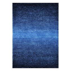Loloi Rugs - Loloi Rugs LLR-JASHJS-01CU Jasper Cobalt Blue Hand Tufted Shag Rug - Jasper Shag is a contemporary line made in China of 100-percent polyester that is textured with long strands and short cut pile. It features a striking ombre color effect, with gradations of color fading from dark to light. Choose from green glow, mocha, iron, cobalt blue, red, sand and wineberry.