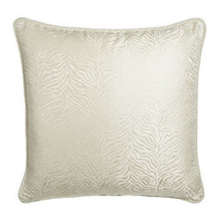 Isabella Collection by Kathy Fielder Ivory Animal European Sham w/ Cording