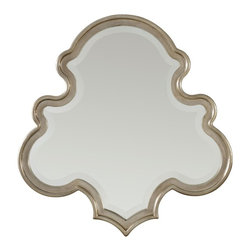 "Hooker Furniture - Hooker Furniture Sanctuary Shaped Mirror in Silver Journey - Pursue serenity at home..Create your own personal sanctuary, a special place where you can experience..comfort within. Resin with Silver Leaf and Mirror. Dimensions: 34""W x 1.75""D x 35""H."