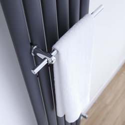 Hudson Reed - Hudson Reed Chrome Towel Rail for Vertical Designer Radiators - Made from solid brass with a chrome finish this Towel Rail has been specially designed to attach to our Revive Radiators. High quality chrome finish