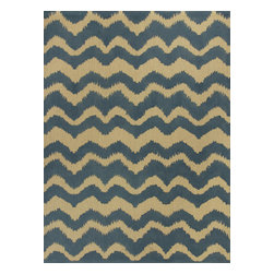KAS - Kas Natura 2250 Blue Chevron Rug - 6 ft 6 in x 9 ft 6 in - Kas Natura 2250 Blue Chevron Area Rug. Kas Natura 2250 Blue Chevron Area Rug. Our KAS Natura rugs pump up Eastern Indian motifs for a colorful, casual look. These vivid works of art will add fun and function to your room setting in fresh, updated colorations. Natura rugs have been machine woven in India, ensuring the heavy-duty jute construction provides durability and rich texture for your active lifestyle. Each modern Natura rug is ready to make a wow-statement in your contemporary space.