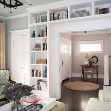 House ideas for Mom & Dad / Bookcase around the opening