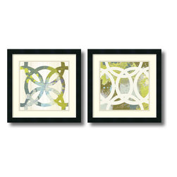 Amanti Art - MAJA 'Ornamental, Circling- set of 2' Framed Art Print 18 x 18-inch Each - Great for a contemporary or modern space, this print set by MAJA will add plenty of visual interest with its entwined circles and abstract appeal.