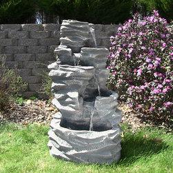 Outdoor Classics 5-Level Rock Pond Fountain -