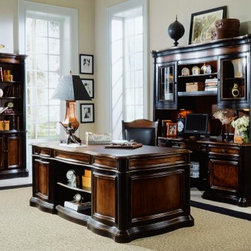 Hooker Furniture - Hooker Furniture Preston Ridge Executive Desk with Leather Top 864-10-563 - Includes Preston Ridge Executive Desk with Leather Top 864-10-563 only.