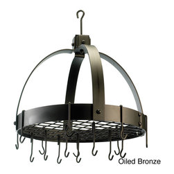 Old Dutch - Domed Hanging 16-hook Grid Pot Rack - Update your kitchen and dining rooms decor with a domed storage rack Kitchen accessory includes 16 hooks to easily store all your cookware Hanging rack is made of heavy-gauge steel with different finish options