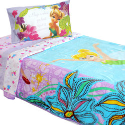 Store51 LLC - Disney Tinkerbell Twin Bedding Magic Butterfly Blanket Set - FEATURES: