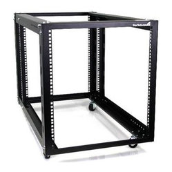 Startech.com - 12U 4 Post Open Rack DROP SHIP - 12U 4 Post Server Equipment Open Frame Rack with Adjustable Posts & Casters DROP SHIP ONLY  This item cannot be shipped to APO/FPO addresses.