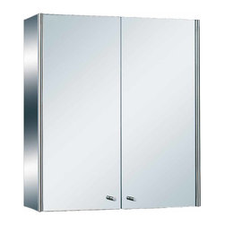 Renovators Supply - Medicine Cabinets Bright Stainless Steel Double Medicine Cabinet | 13519 - Bathroom Medicine Cabinet Mirror. Maximize storage in style, this exquisite medicine cabinet is 100% stainless steel inside and out. The perfect investment for any bathroom. Measures: 21 3/4 inch H x 19 3/4 inch W x 5 3/4 inch projection.