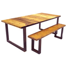 Industrial Dining Tables by Oilfield Slang