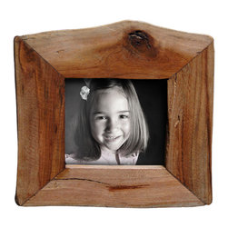 """Bambeco Reclaimed Natural Wood Frame 3.5""""x3.5"""" - These unique picture frames show off the raw beauty of nature in its purest form. Made from reclaimed California wood, these frames maintain a natural shape and will show off your favorite photos with organic style. They can stand alone or hang together on a wall for an artistic display. Because these frames are hand crafted from a natural source, no two are alike. Each will retain the natural grain and may contain a combination of wood species and color variations. Also available in: Reclaimed Redwood. Also available in: 4""""x6"""", 5""""x7"""", 8""""x10""""."""