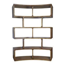 NOIR - NOIR Furniture - Curved Bookcase in Walnut - Curved Bookcase
