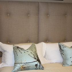 "Upholstered Headboards - Upholstered Headboard Panel. Mounts on Wall 24"" x 48"" x 2"" . C.O.M. FABRIC"