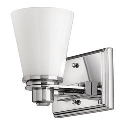 Hinkley Lighting - Avon Single Sconce - From a vintage collection reminiscent of the 1920s and 1930s comes this clean, sophisticated light in brushed nickel. Its timeless design will look stunning in your bathroom and above your vanity.