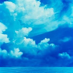Walls 360, Inc. - Cumulus Clouds with Sunlight Panoramic Fabric Wall Mural - Transform your empty walls with Walls 360's premium, repositionable wall graphics.