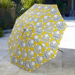 Summer Goddess Yellow Umbrella - Looking at this umbrella makes me want to work on my backyard just so I can buy and use it.