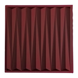 """Dart Ceiling Tile - Merlot - Perfect for both commercial and residential applications, these tiles are made from thick .03"""" vinyl plastic. Their lightweight yet durable construction make these tiles easy to install. Waterproof, these tiles are washable and won't stain due to humidity or mildew. A perfect choice for anyone wanting to add that designer touch at an amazing price."""