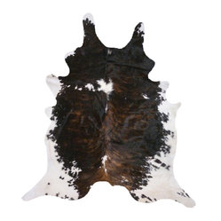 Cowhide Bindle on Back Rug