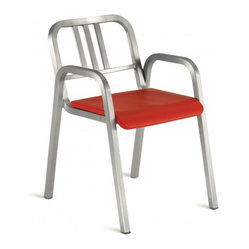 Nine-0 Stacking Armchair, 3-Bar Back