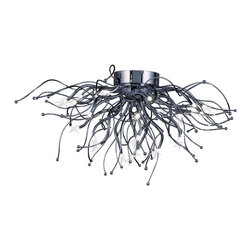 ET2 Contemporary Lighting - ET2 Contemporary Lighting E24470-PC Orion 28 Light Flush Mounts in Polished Chro - This 28 light Flush Mount from the Orion collection by ET2 will enhance your home with a perfect mix of form and function. The features include a Polished Chrome finish applied by experts. This item qualifies for free shipping!