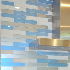 Contemporary Tile by Marin Designworks Glass Tile Design & Waterjet Art