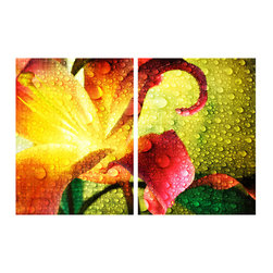 READY2HANGART.COM - Ready2hangart Alexis Bueno Tropical Hibiscus (2-PC) Canvas Wall Art Set - This Tropical Hibiscus was inspired by the Caribbean Island of Antigua; crisp and contemporary. It is fully finished, arriving ready to hang at your home or office.