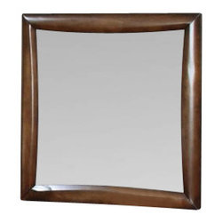 Coaster - Mirror (Deep Walnut) By Coaster - This simple and stylish dresser mirror will be a lovely accent in the youth bedroom in your home. The smooth wooden frame has a clean shape, surrounding the vertical dresser mirror. Add light and depth to your home with this elegant mirror, available in Warm Brown and deep Cappuccino to complement your decor. Features: Warm Brown Finish Made from Wood Veneers and Solids Contemporary style