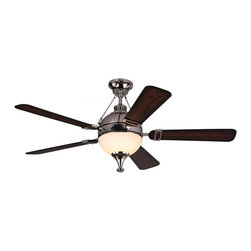 "Monte Carlo Fan - Monte Carlo Fan Essex 54"" Modern / Contemporary Ceiling Fan X-DNP45RSE5 - This advanced LED technology is carefully designed and selected to consist of the highest quality LED chipsets for superior performance and reliability."