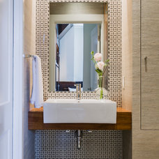 Contemporary Powder Room by Annie Hall Interiors