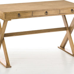 "Arteriors - Arteriors Cain Natural Limed Oak Desk - The Arteriors collection is handcrafted by artisans offering the best in traditional, transitional and casual accessories, accent furniture and lighting decor. The Cain Natural Limed Oak Desk is simplicity at it's finest. 29-1/2""H x 47-1/2""W x 23-1/2""D"