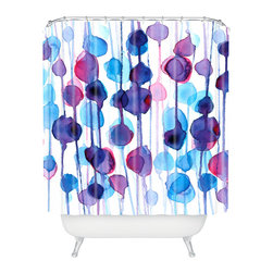 DENY Designs - CMYKaren Abstract Watercolor Shower Curtain - Who says bathrooms can't be fun? To get the most bang for your buck, start with an artistic, inventive shower curtain. We've got endless options that will really make your bathroom pop. Heck, your guests may start spending a little extra time in there because of it!