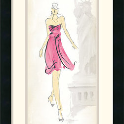 Amanti Art - Fashion Lady II Framed Print by Avery Tillmon - It is all about the dress; celebrate fashion culture and couture with this fun framed print by Avery Tillmon.