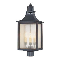 Savoy House - Savoy House 5-255-25 Monte Grande Post Lantern - Our extremely popular Monte Grande design is now available in this new Slate finish with Pale Cream Seeded glass.