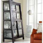 Hooker Furniture Mélange Angle Design Curio in Black Finish - Features: