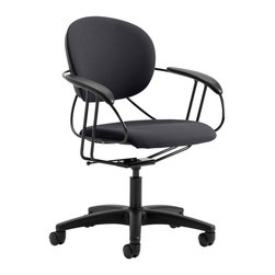 Steelcase - Steelcase Uno Mid-Back Multi-Purpose Chair - Here's a chair that's really got your back! Designed by sculptor Charles Perry, it takes its cue from a hammock to provide the mid-back support you need to get any job done.